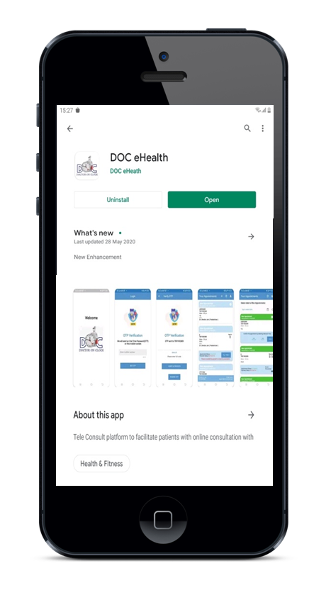 DOC eHealth Android App for Coronna Consultation